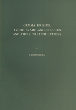GS 14, N.D. Haasbroek, Gemma Frisius, Tycho Brahe and Snellius and their Triangulations
